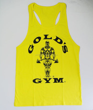 Cheap cotton gold gym mens stringer singlet