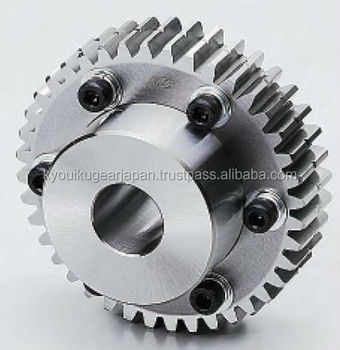 Control backlash ground spur gear Module 1.0 Chromium molybdenum steel Made in Japan KG STOCK GEARS