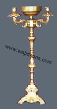 Bright gold candelabra for table top made by top notch company Wajidsons Corporation in India