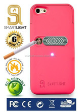 Fuchsia case for Samsung S6 with ecological cigarette lighter