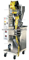 Automatic vertical form fill and seal machine with cup filler for packing granules and free flowing powder