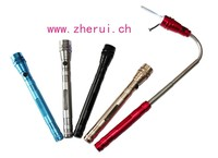 Extendible 3 led telescopic aluminum flash light with lots of magnetic strength