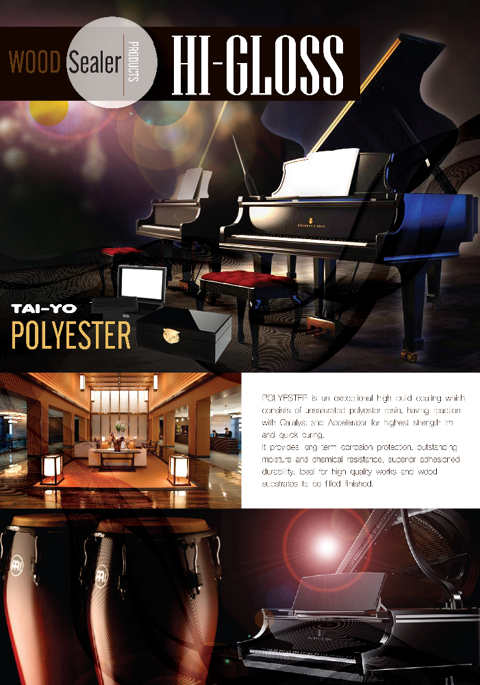TAI-YO POLYESTER HI-GLOSS Sealer for Building&Furniture Premium Decorative Coating Paint