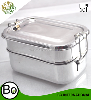 stainless steel bento lunch box 17 x 12 x 8 cm buy stainless steel bento lunch box lunch box. Black Bedroom Furniture Sets. Home Design Ideas