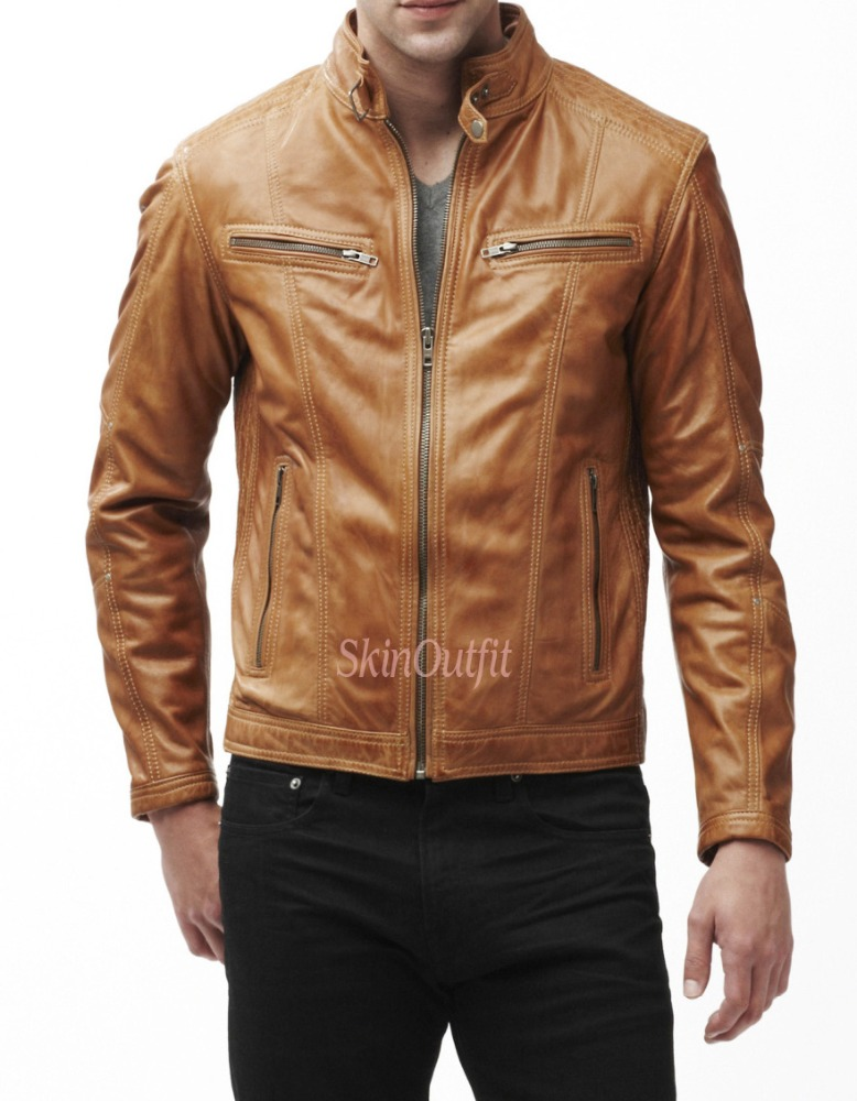 Stylish Mens Genuine Leather Jacket