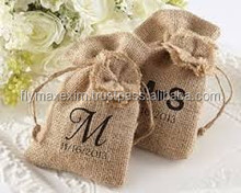 Promotional, Eco-friendly, Customized Packing, Coffee & Nuts, Jute Drawstring Bags