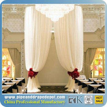 Wedding Party square roof tent pipe and drape hire