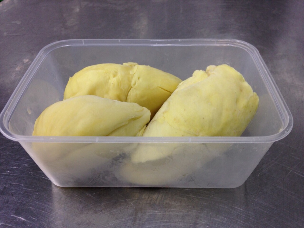 Frozen Durian Mothong 450 grams Thai Ao Chi brand from Thailand