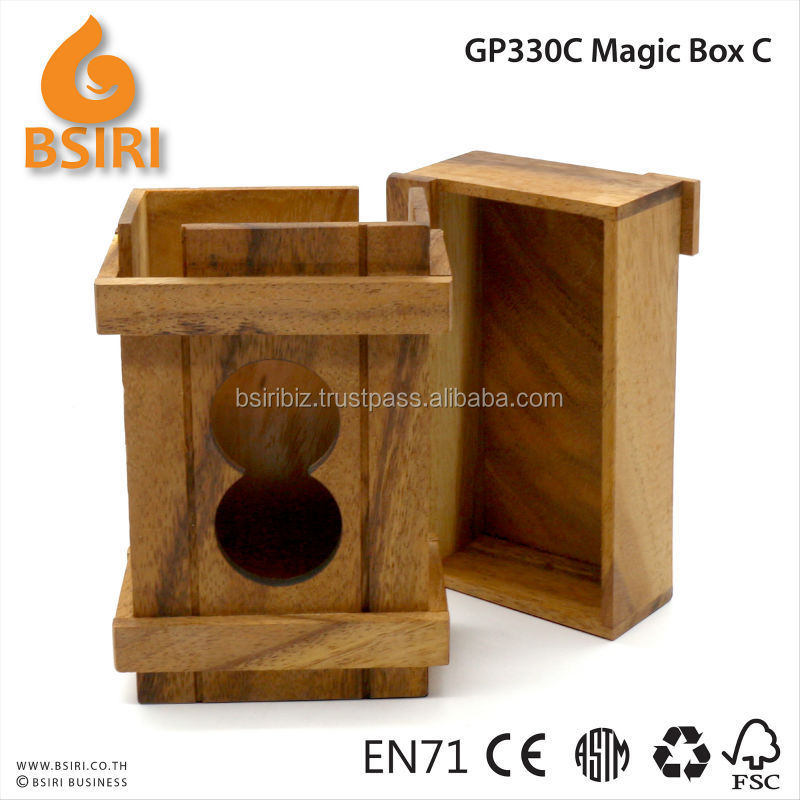 Magic Wooden Puzzle Box Puzzle Wooden Secret Compartment Gift
