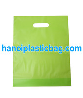Supermarket grocery die cut handle bag plastic clothes/shoes shopping bag