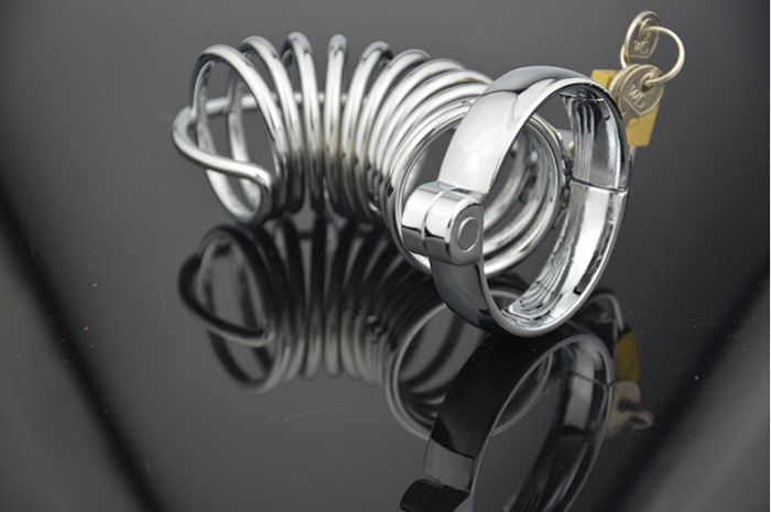 Gay Male Men Enforced Stainless Steel Metal Birdcage Male Chastity Cage Device