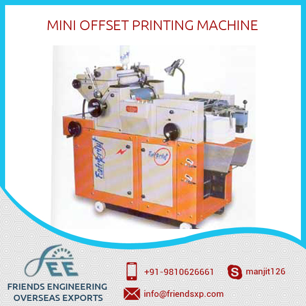 Industrial Grade Automatic Mini Offset Printing Machine Available in Various Sizes