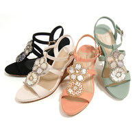 Durable and High quality woman sandals new design shoe for fashion use small lot order available
