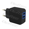 QOLTEC - REAL CE - CHARGER 10.5W | 5V | 2.1A | 2XUSB