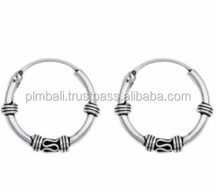 BH007-15 mm bali hoop with classic etnic design
