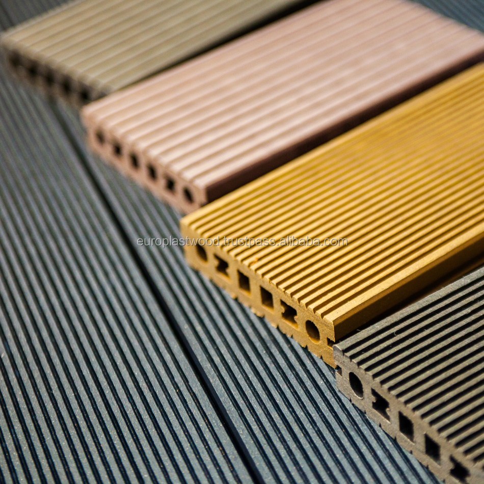 WPC decking floor is a low- maintenance alternative to traditional deck building materials