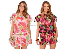2015 New Style Printed Beach Kaftan for Women / S, M, L, XL, 2XL,...5XL / Poly Georgette