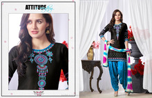 patiala Suit with black and Embroidery Work