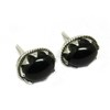 Simple Beauty !! Black Onyx 925 Sterling Silver Earring With Tension Back, 925 Sterling Silver Jewelry Supplier, Silver Jewelry