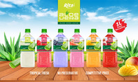 High quality NFC 1000ml pet bottle Mango flavor Aloe vera drink