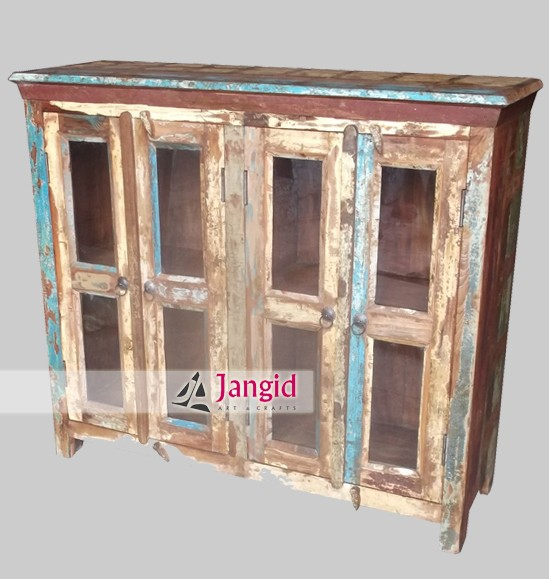 Vintage rustic reclaimed wood cabinet sideboard furniture for Reclaimed wood manufacturers