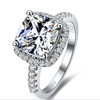 3.0 Carat Engagement Ring Set With Top Cubic Zircon Plated Gold Wholesale Jewelry