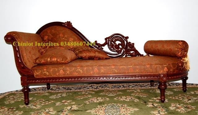 Hand Made, Hand Carved Solid Wood Couch