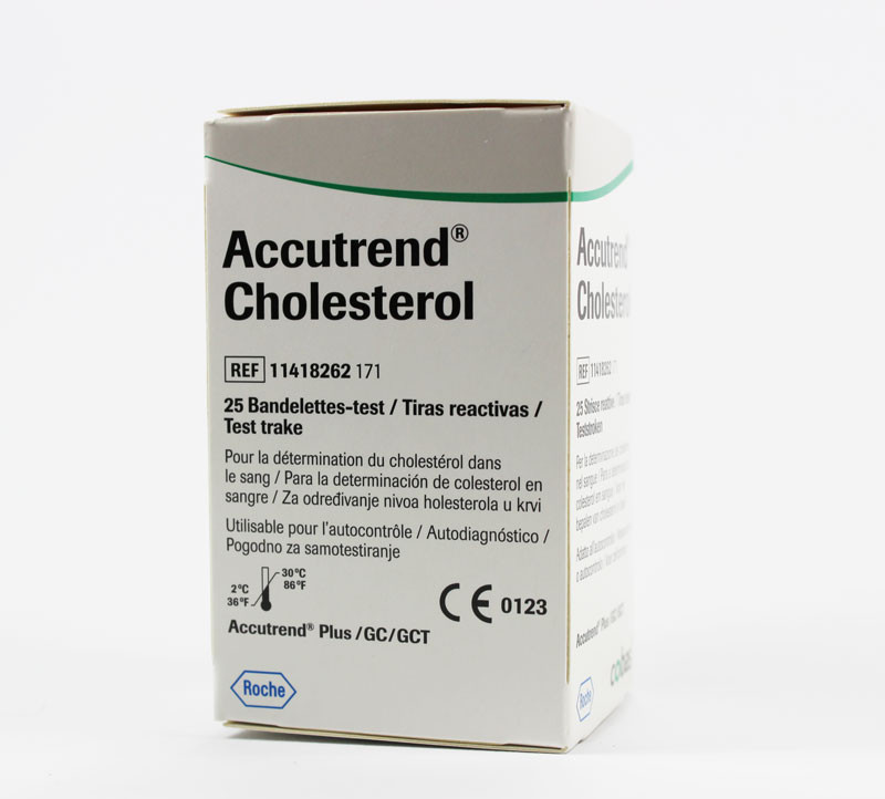 Roche Accutrend Cholesterol test-strips 25 pcs.