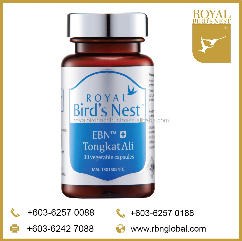 Edible Bird's Nest with Tongkat Ali Capsules from Malaysia