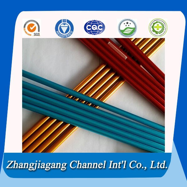 anodizing blue red color 7075 T6 aluminum pole