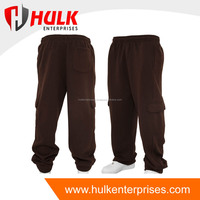Wholesale Custom High Quality Dark Brown color Sweatpant with side pockets