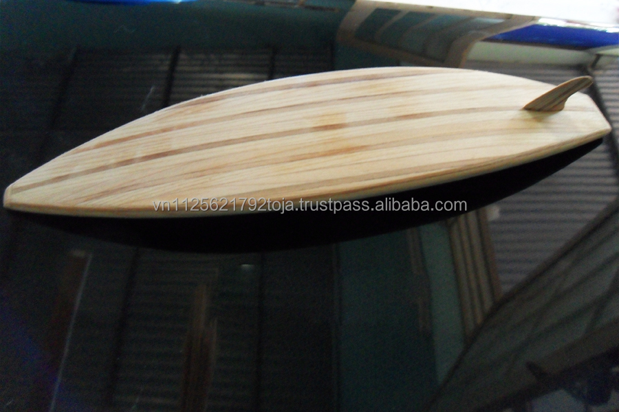 small surfboard, Wood craft model ship from Viet nam