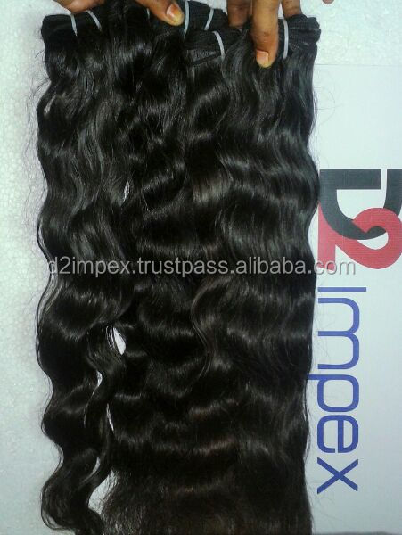 Wholesale Top Grade Alibaba India Different Types Of Wavy Weave Hair
