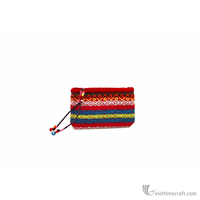 Brocade fabric coin purse, mini handbag with ethnic pattern used for storage coins, lipstick, small stuff