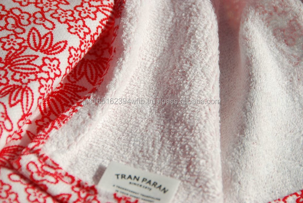 Gauze and Terry Towel Japanese Traditional Product of Japan 100 Cotton Driving Hand Towel Bright Color