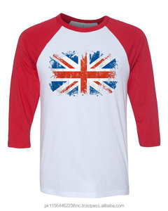 Red and white flag custom T-shirts for men