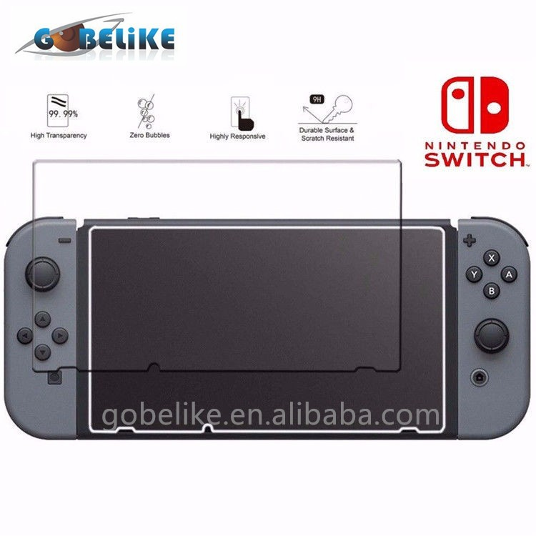 Gobelike Factory Supply 0.3mm 2.5D Tempered Glass Screen Protector for Nintendo Switch