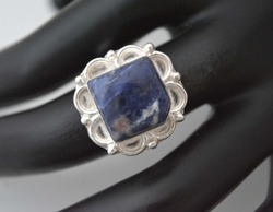 Fancy Ring With Sodalite
