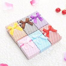 Cardboard Earring Box with Satin Ribbon Rectangle mixed colors 50x80x30mm jewelry box making supplies