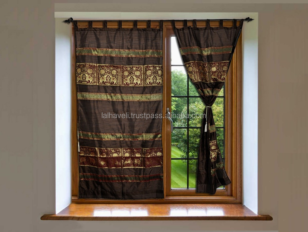 Indian Classical Jacquard Work Silk Curtains Design Curtains India