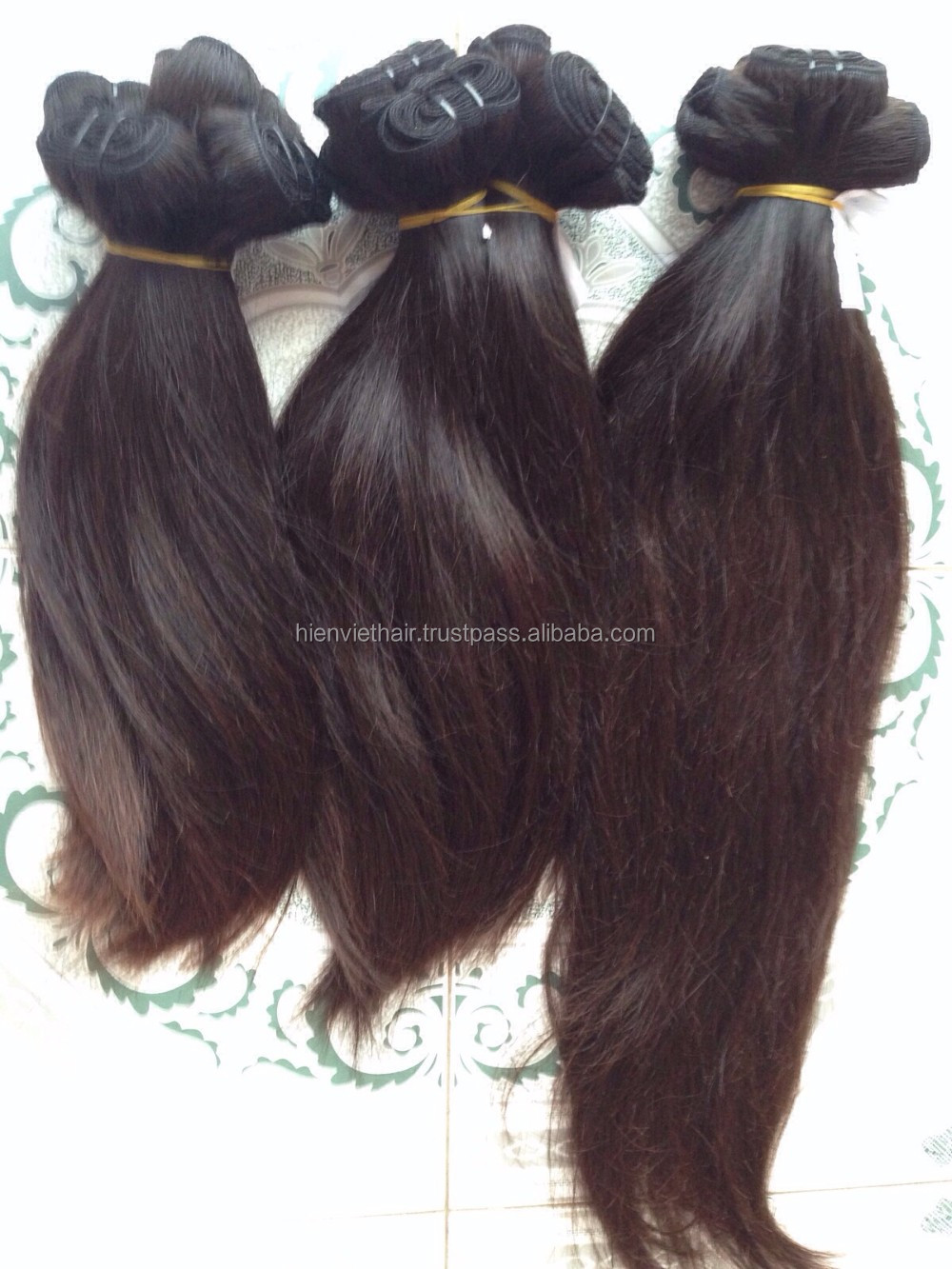 Vietnam high quality cheap wholesale price natural brown straight hair weaving - 100% remy virgin human hair