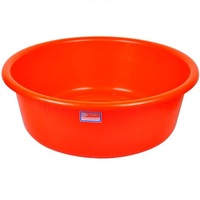 Extra large plastic wash basin, bathroom, laundry household round basin