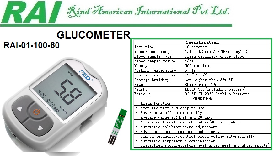 Blood Sugar Test Meter Blood Glucose Meter Glucose Monitor Glucometer