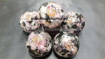 R.B.S Orgone Ball For Sell : Wholesale Rose Quartz,Black Tourmaline,Selenite Orgone Ball Spheres