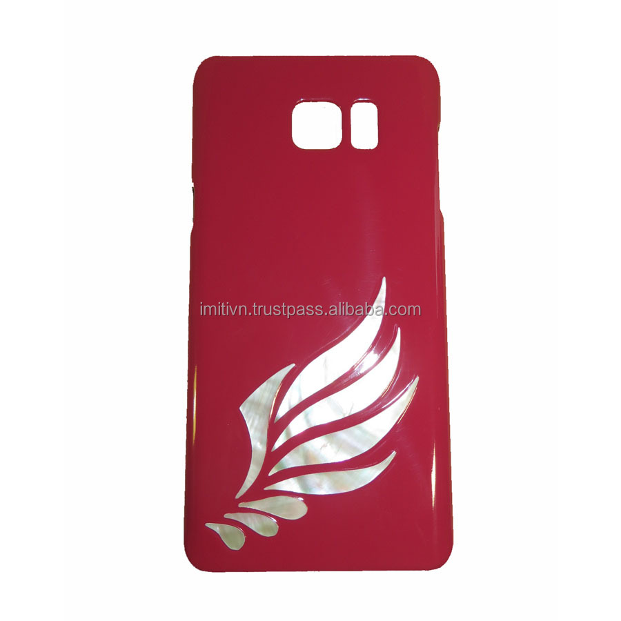 phone accessories mobile cover - unique natural seashell inlay (not printed) - customized as your request