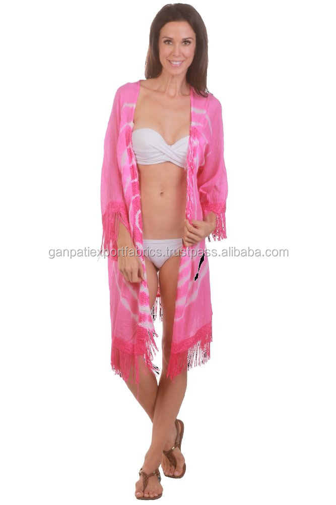 All New Sexy Girl's Exclusive Georgette Collection Tie & Dye Sexy Kimono / Cardigan With Designer Less