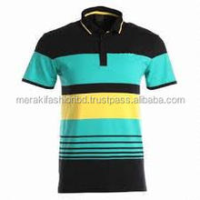 Top Quality Custom yearn dyed 100% Combed Pique Cotton Polo T Shirt