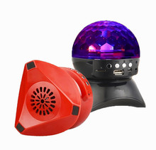 1000mah super bass portable round colorful led disco light active stereo bluetooth speaker with bulit in TF card function