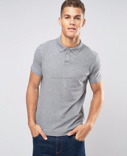 Mercerized cotton henley with contrast collar & cuffs