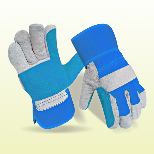 welding Gloves Made of Premium Cowhide Grain Leather With Straight Thumb, Key Stone, Wing